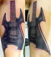 B.C. Rich guitar by ODIETATTOO