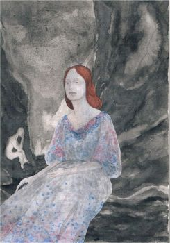 Elizabeth Siddal in the valley of the shadows by doomed-echo