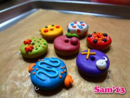 Oven fresh Pokemon donuts by dsam4