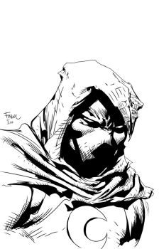 Moon Knight inks over David Finch by seggleston