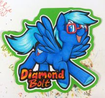Diamond Bolt badge by onnanoko