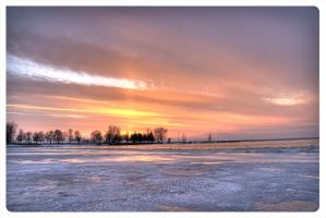 Red Winter Sky by AmirNasher