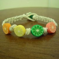 Fimo Citrus Hemp Bracelet by ReezaJoy