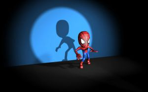 Chibi Spidey Spotted by nursury0