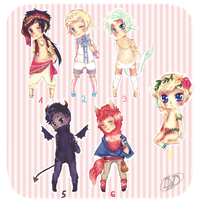 Giveaway adoptables 2 OVER by dancingwithdinosaur