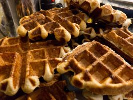 Belgian-style waffles (don't ask me what region) by draxxion