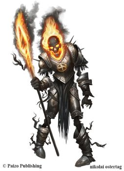 Pathfinder - BURNING KNIGHT OF MOLOCH by NikolaiOstertag