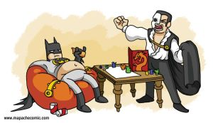 Batman and The Phantom BFF'S by mapacheanepicstory