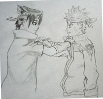 Sasuke e Naruto by edself