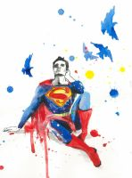 DEPRESSIVE SUPERMAN by lora-zombie