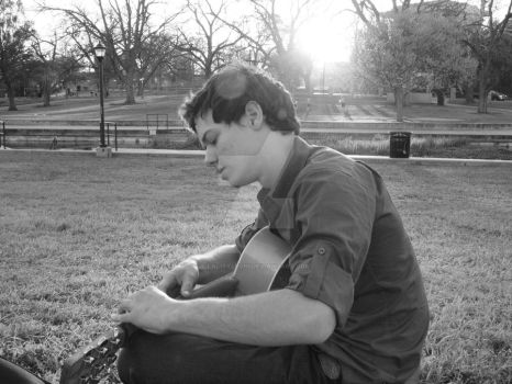 Guitar By The River Side. by LaLittleChi