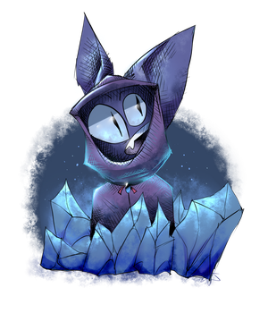 Some cat thing and some crystals by SOMMY-OF-BRERO