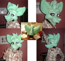 Tiana Fursuit Head WIP by kawaiiteddy