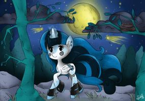 Trotting Under the Moonlight by BubblegumBloo