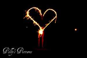 Flaming Heart by Amb08