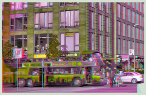 Double-Decker Bus 3D ::: HDR Anaglyph Stereoscopy by zour