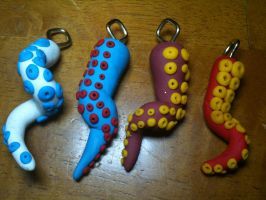 Tentacle pendants by almightyraz