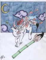 Painted Sky-Okami by EmpressOfDestruction