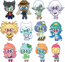Mini Chibis by undead-alien