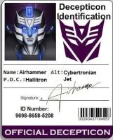 Decepticon ID Airhammer by Bluetabbycat