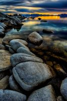 The Exquisite East Shoreline of Lake Tahoe by sellsworth