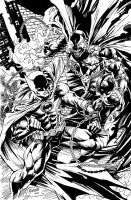 Spawn vs Batman by gammaknight