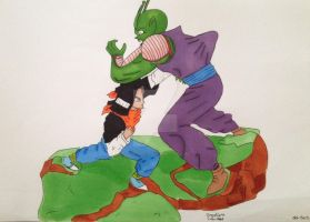 Android 17 and Piccolo (markers) by LovelyFerGie
