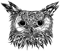 Tribal Owl by Dessins-Fantastiques