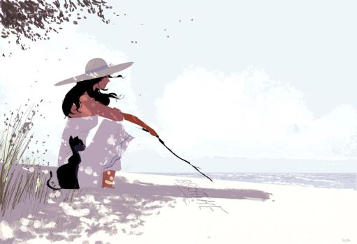 Words in the sand. by PascalCampion
