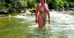 standing in the stream by HannaD69