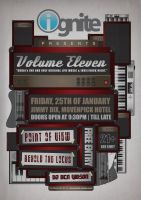 Volume Eleven Gig Poster by ujie