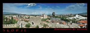 SKOPJE PANORAMIC POSTCARD by mitatos