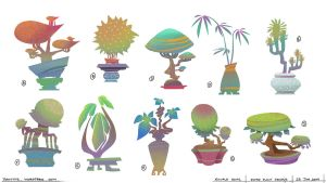 Potted Plants Visual Development for You Ci Ke by minifong