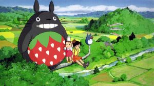 Strawberry Totoro by LindsayCookie