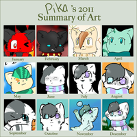 Art summary: 2011 by starsleeps