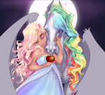 More Rainbow and Starlite WIP by Asher-Bee