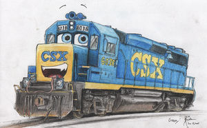 Geepy the CSX GP40-2 by Silverwolf-1ofmany