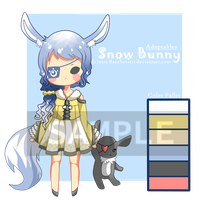 Adoptables Auction! .:Snow Bunny:. (Close) by RaraSavitri