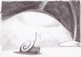 Lampshade snail by mymilkiaen