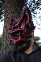 Ruby Leather Alpha Wolf Mask by Epic-Leather