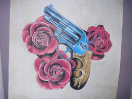 revolver w roses flash by charlesbronson777