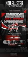NBA All Star Weekend PSD Flyer Template by ImperialFlyers