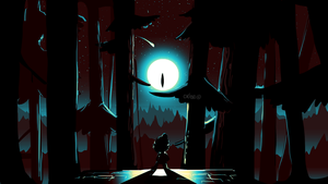 Gravity Falls Dipper and Bill Cipher scene (3) by CKibe
