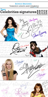 BRUSHES: Signatures and symbols celebrities by RafaelGiovannini