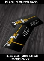 Black Business Card by CaCaDoo