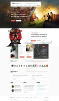 Gaming Landing Page - Free Download by vasiligfx
