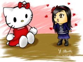 Gift: Hello Kitty Lovings by altearithe