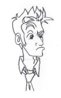 Tenth Doctor caricature by Monaki