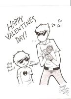 Bro got a Valentine Double Pistols and a Wink by caseymakara