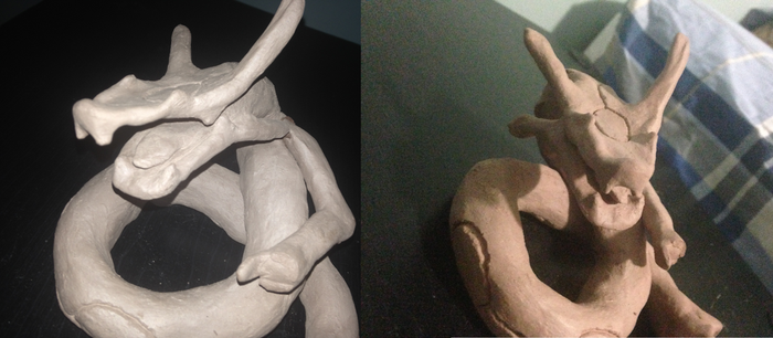 Rayquaza Sculpture (Unfinished) by Devilboy345